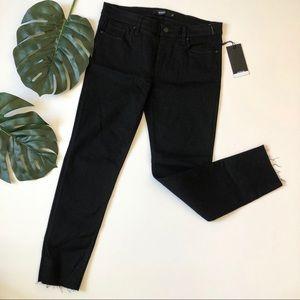 Hudson NWT Tally midrise skinny crop jeans raw hem